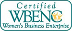 Certified WBENC Women's Business Enterprise badge